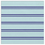 [ Thumbnail: Midnight Blue & Powder Blue Lines Pattern Fabric ]