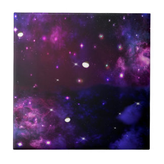 Midnight Blue Purple Galaxy Tile