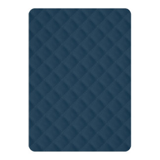 Midnight Blue Quilted Pattern 5x7 Paper Invitation Card