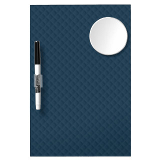 Midnight Blue Quilted Pattern Dry-Erase Whiteboard