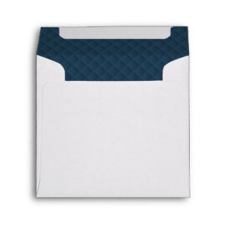 Midnight Blue Quilted Pattern Envelope