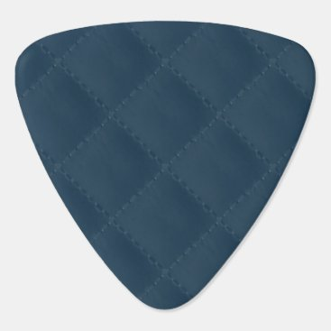 Professional Business Midnight Blue Quilted Pattern Guitar Pick