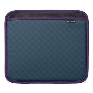 Midnight Blue Quilted Pattern Sleeve For iPads