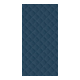 Midnight Blue Quilted Pattern Photo Card Template