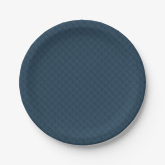 Midnight Blue Quilted Pattern 7 Inch Paper Plate