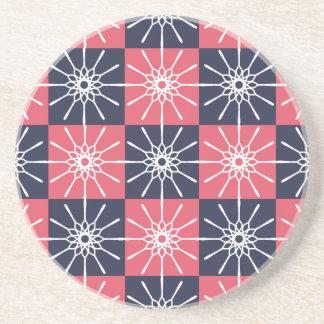 Midnight Blue & Raspberry Pink Starburst Coaster