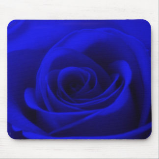 Midnight blue Rose Mouse Pad