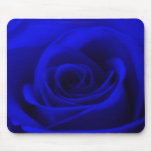 Midnight blue Rose Mousemat