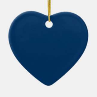 Midnight Blue Save the Date Heart Ornament