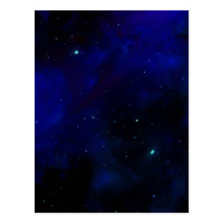 Midnight Blue Sky with Stars Postcard