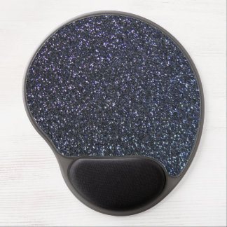 Midnight Blue Sparkling Faux Glitter Style Gel Mouse Pad