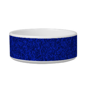 Midnight Blue Sparkly Bits Pet Food Bowl
