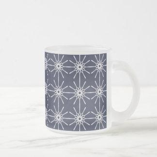 Midnight Blue Starburst Glass Mug