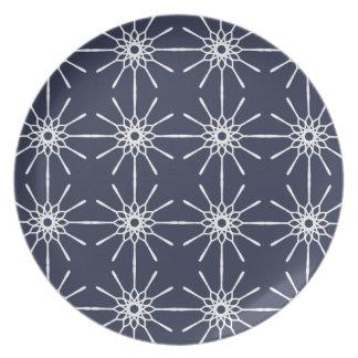 Midnight Blue Starburst Plate