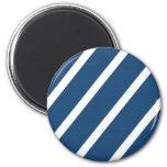 Midnight Blue Stripes Magnets