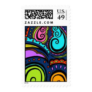 Midnight Blue Swirl Stamp