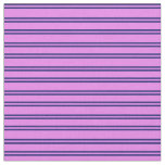 [ Thumbnail: Midnight Blue & Violet Pattern of Stripes Fabric ]