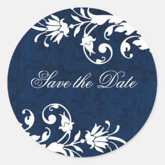 Midnight Blue Wedding Stickers