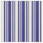 [ Thumbnail: Midnight Blue & White Colored Lines Fabric ]