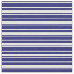 [ Thumbnail: Midnight Blue & White Colored Lines Pattern Fabric ]