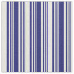 [ Thumbnail: Midnight Blue & White Colored Pattern Fabric ]
