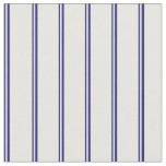 [ Thumbnail: Midnight Blue & White Lined Pattern Fabric ]