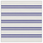 [ Thumbnail: Midnight Blue & White Lines Fabric ]