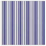 [ Thumbnail: Midnight Blue & White Lines Pattern Fabric ]