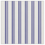 [ Thumbnail: Midnight Blue & White Lines/Stripes Pattern Fabric ]