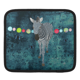 Midnight Blue Zebra  iPad Sleeve