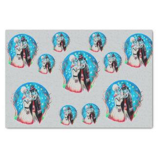 """Midnight Blue Zombie Wedding 10"""" X 15"""" Tissue Paper"""