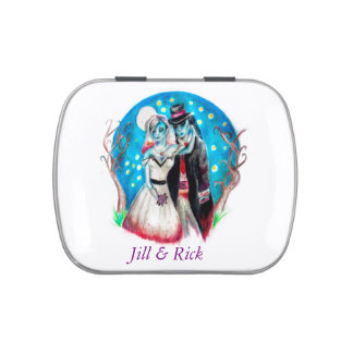 Midnight Blue Zombie Wedding Jelly Belly Candy Tins