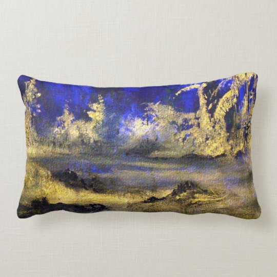 Midnight Blues Lumbar Pillow