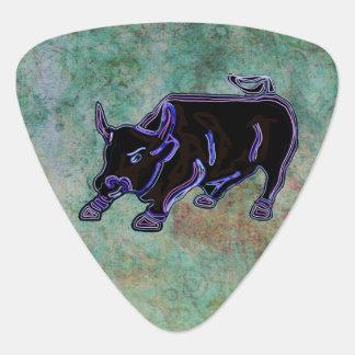 Midnight Bull Custom Monogram Pick