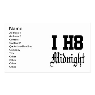 midnight business card