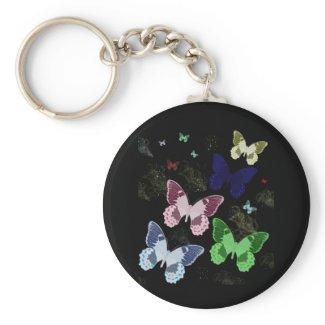 Midnight Butterflies keychain