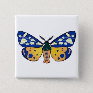 Midnight Butterfly Pinback Button
