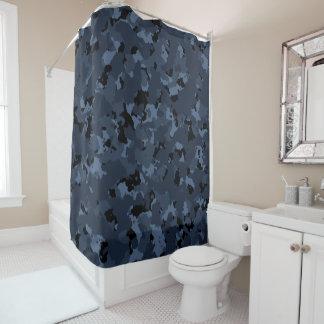 Blue Camo Shower Curtains | Zazzle