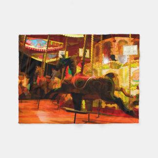 Midnight Carousel Ride Fleece Blanket