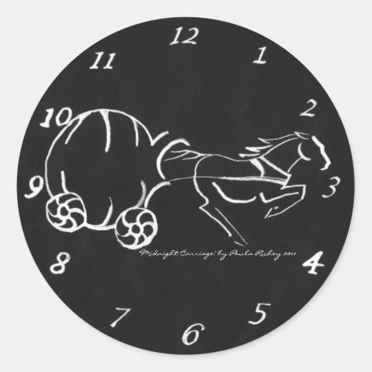 Midnight Carriage black Sticker