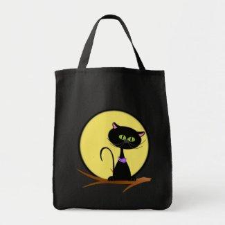 Midnight Cat Trick or Treat Bag