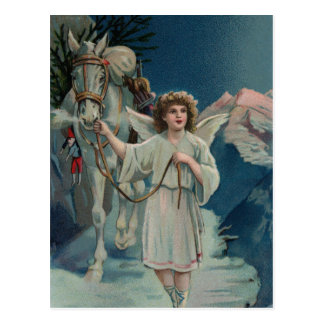 Midnight Christmas Angel Postcard