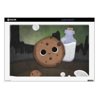 """Midnight Cookie with Milk 17"""" Laptop Skin"""