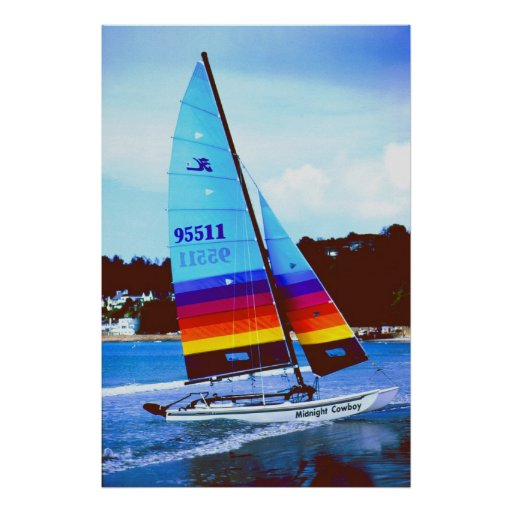 Midnight Cowboy Hobie sailing boat Poster