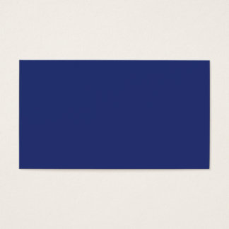 Midnight Dark Blue Personalized Navy Background Business Card