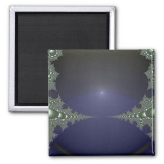 Midnight Dawn Fractal 2 Inch Square Magnet