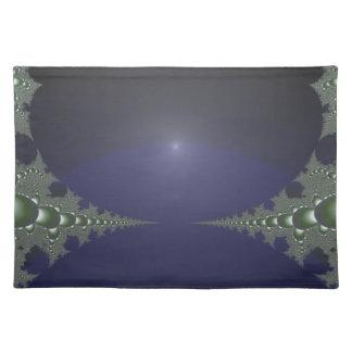 Midnight Dawn Fractal Cloth Placemat