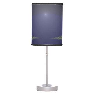 Midnight Dawn Fractal Desk Lamp