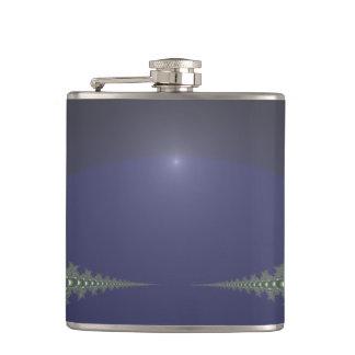 Midnight Dawn Fractal Flask