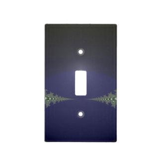 Midnight Dawn Fractal Light Switch Plates